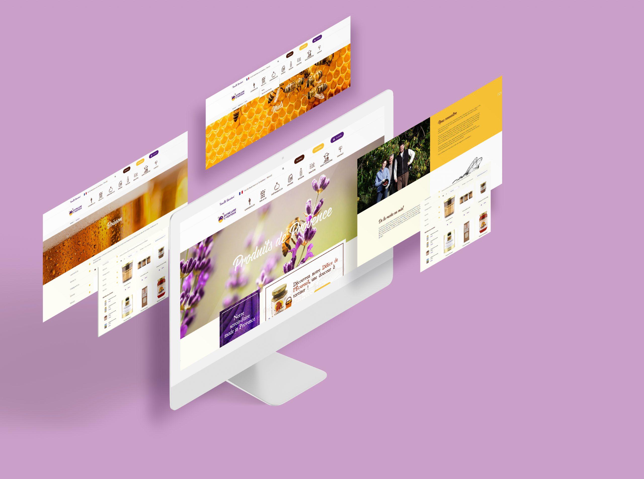 site web Entre Lure et Ventoux
